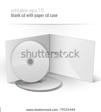 Blank CD DVD Paper Case Editable Stock Vector (Royalty Free