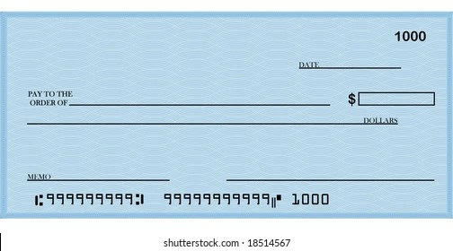 Blank Check Images, Stock Photos  Vectors Shutterstock