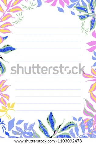 Blank Design Cute Floral Vector Card Stock Vector (Royalty Free
