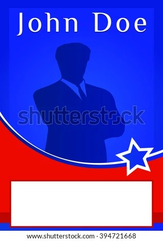 Blank Election Poster Flyer Template Stock Vector (Royalty Free