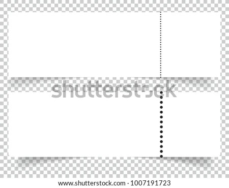 Blank Event Concert Ticket Mockup Template Stock Vector (Royalty