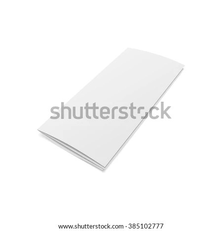 Blank Folded Realistic Brochure Template Stock Vector (Royalty Free