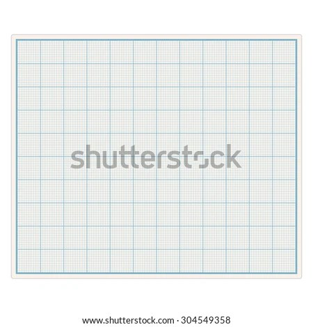 Blank Graph Paper Vector Eps 10 Illustration Stock Vector (Royalty