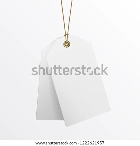 Blank Labels Template Price Tags Realistic Stock Vector (Royalty