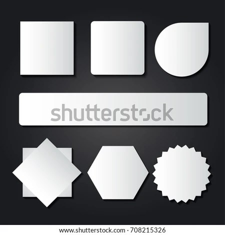 Blank Labels Template Price Tags Set Stock Vector (Royalty Free