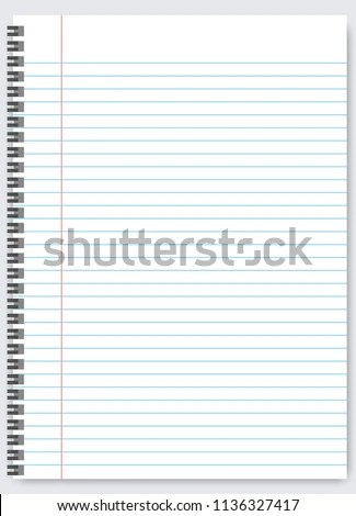 Blank Lined Paper Template One Page Stock Vector (Royalty Free