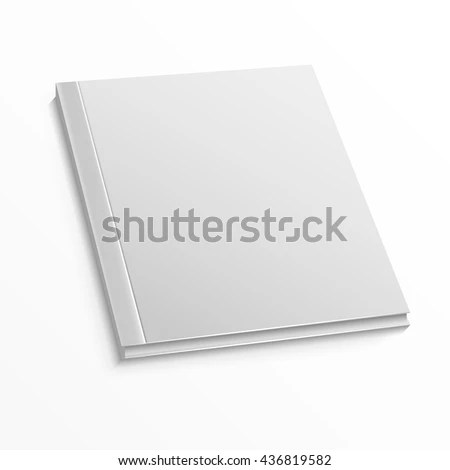 Blank Magazine Cover Template On White Stock Vector (Royalty Free