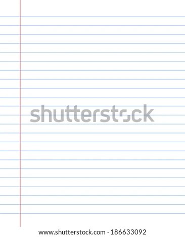 Blank Notebook Paper Sheet Lines Stock Vector (Royalty Free