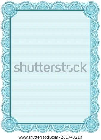 Blank Printable Certificate Frame Template Stock Vector (Royalty