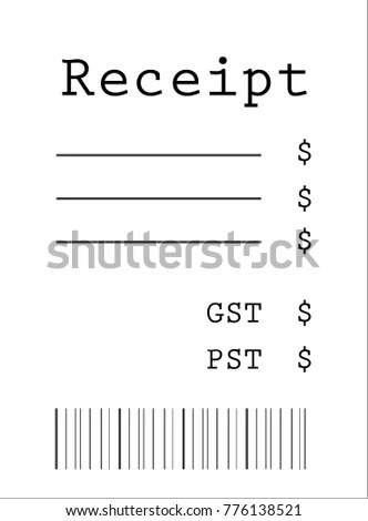 Blank Receipt Model Stock Vector (Royalty Free) 776138521 - Shutterstock
