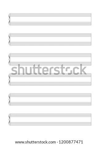 Blank Sheet Music 12 Staves Treble Stock Vector (Royalty Free