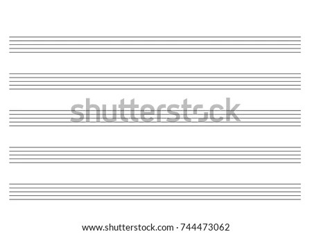 Blank Staff Landscape Stock Vector (Royalty Free) 744473062