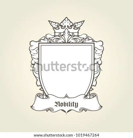 Blank Template Coat Arms Shield Crown Stock Vector (Royalty Free