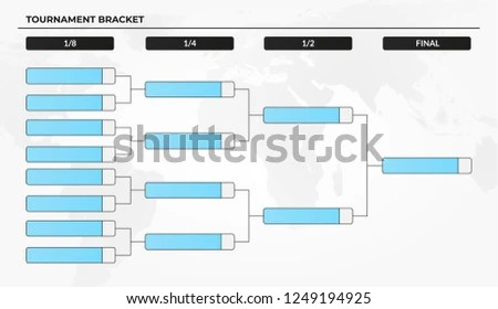 Blank Tournament Bracket Template World Cup Stock Vector (Royalty
