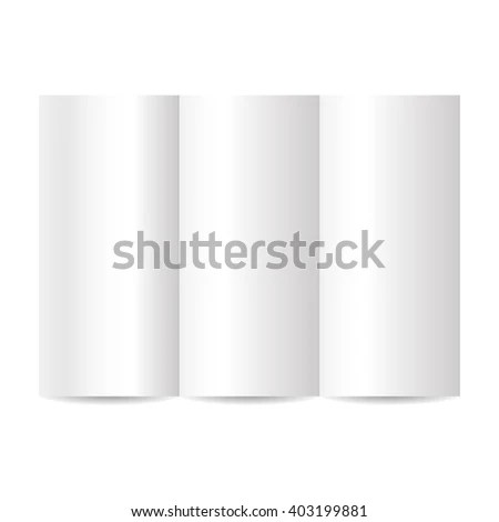 Blank Tri Fold Brochure Template Stock Vector (Royalty Free