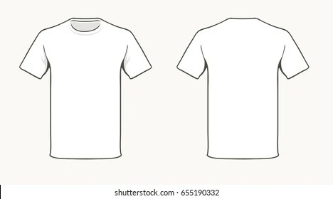 white t-shirt template Images, Stock Photos  Vectors Shutterstock