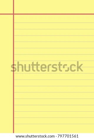 Blank Yellow Paper Note Page Memo Stock Vector (Royalty Free