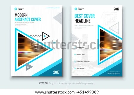 Blue Cover Page Design Corporate Business Stock Vector (Royalty Free