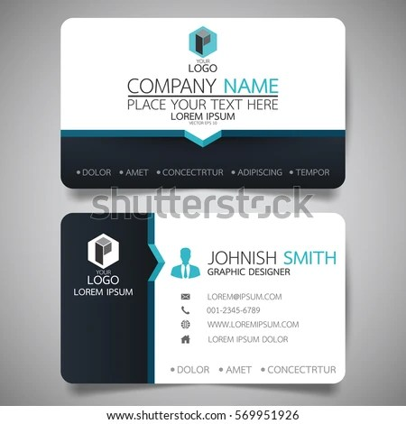 Blue Modern Creative Business Card Name Stock Vector (Royalty Free