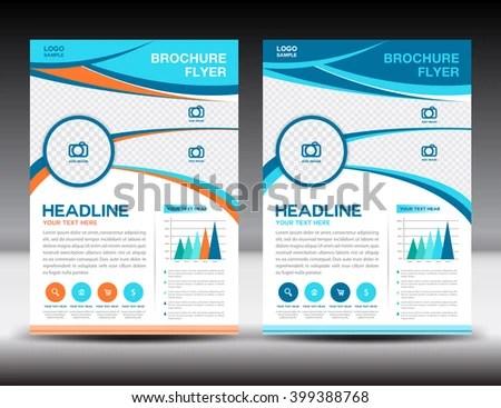 Blue Orange Annual Report Template Design Stock Vector (Royalty Free
