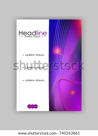 Book Cover Design Template A 4 Format Stock Vector (Royalty Free