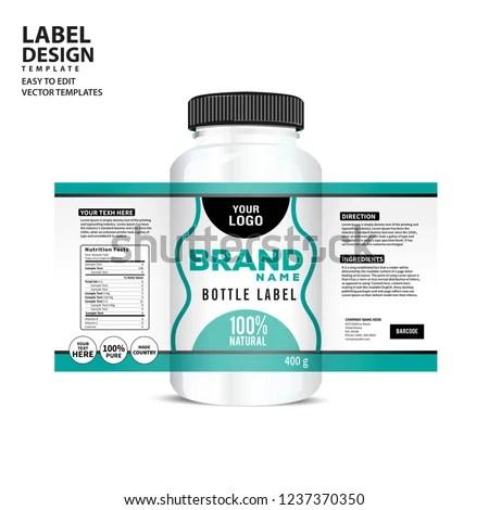Bottle Label Package Template Design Label Stock Vector (Royalty
