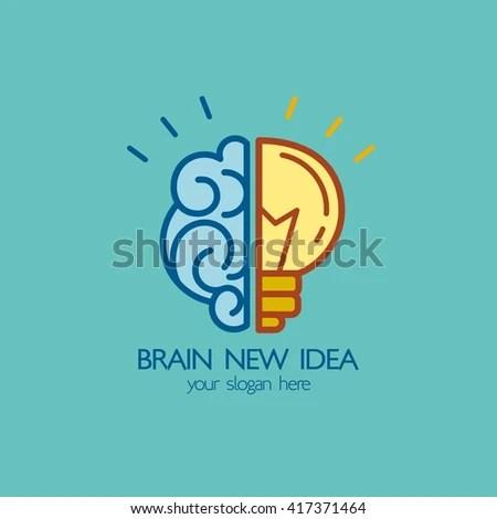 Brain Idea Design Badges Symbol Concept Stock Vector (Royalty Free