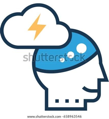 Brainstorm Vector Icon Stock Vector (Royalty Free) 658963546