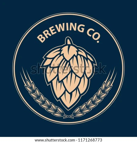 Brewery Logo Label Badge Template Hop Stock Vector (Royalty Free
