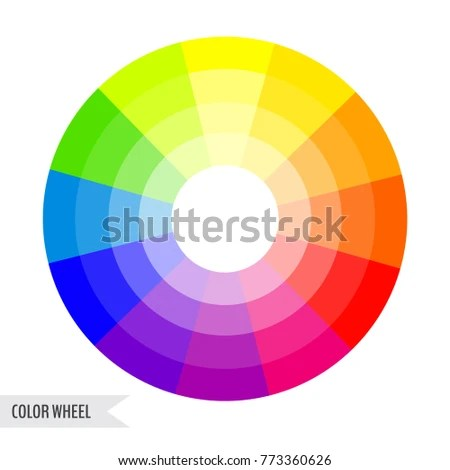 Bright Color Wheel Chart Isolated On Stock Vector (Royalty Free