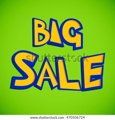 Bright Design Big Sale Flyer Yellow Stock Vector (Royalty Free