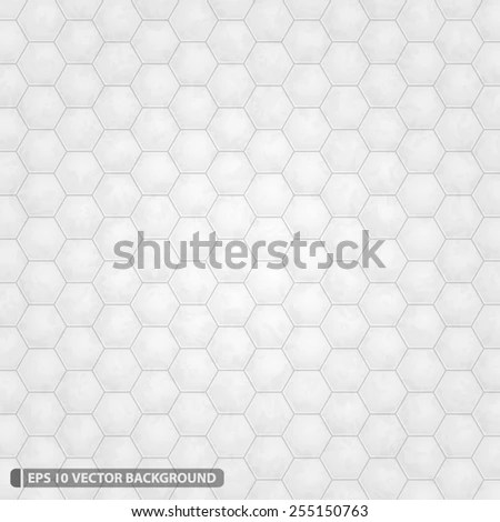 Bright White Hexagon Grid Vector Pattern Stock Vector (Royalty Free
