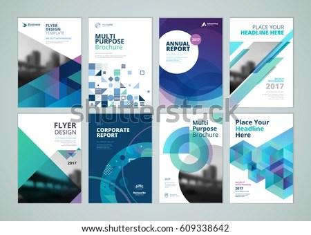 Brochure Annual Report Flyer Design Templates Stock Vector (Royalty