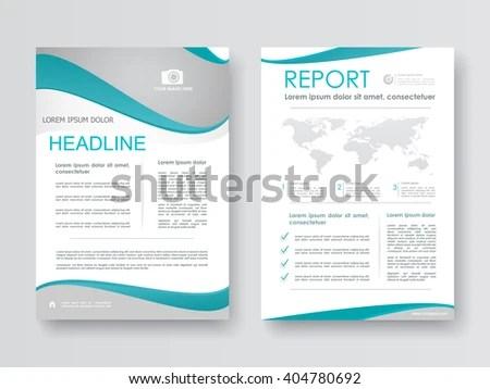 Brochure Corporate Report Flyer Marketing Design Stock Vector