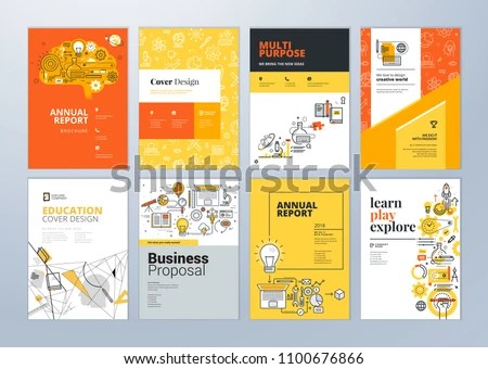 Brochure Cover Design Flyer Layout Templates Stock Vector (Royalty