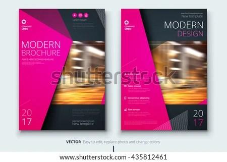Brochure Fashion Design Corporate Business Template Stock Vector