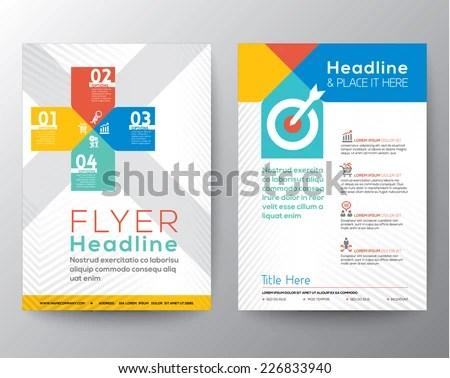 Brochure Flyer Graphic Design Layout Vector Stock Vector (Royalty