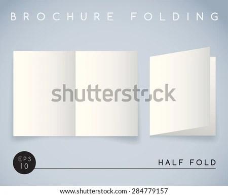Brochure Folding Half Fold Vector Illustration Stock Vector (Royalty
