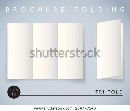 Brochure Folding Tri Fold Vector Illustration Stock Vector (Royalty