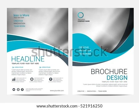 Brochure Layout Design Template Annual Report Stock Vector (Royalty