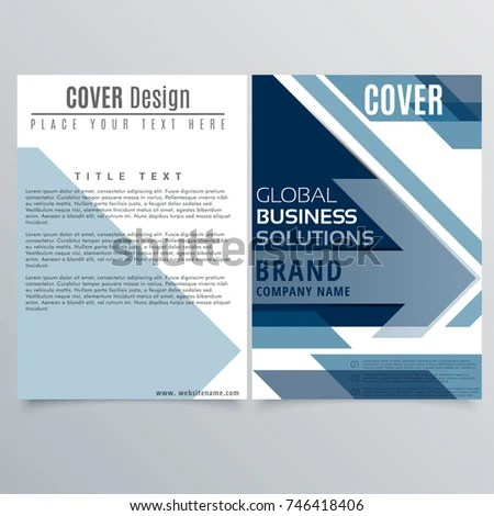 Brochure Layout Design Template Illustration Vector Stock Vector