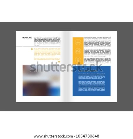 Brochure Layouts Templates Leaflet Cover Presentation Stock Vector