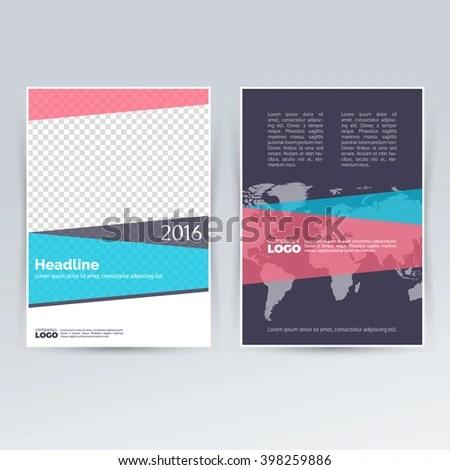 Brochure Template Design Advertising Creative Leaflet Stock Vector