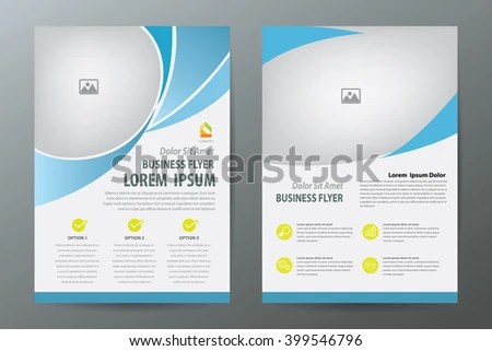 Brochure Template Designflyerbookletreport Cover A 4 Vertical Size