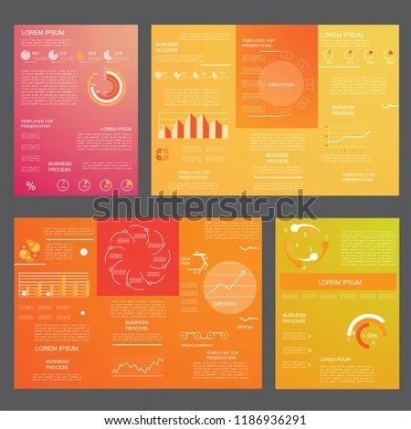 Brochures Business Reports Cover Layout Infographics Stock Vector