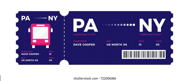 Bus Entrance Vector Tickets Templates Ticket Stock Vector (Royalty