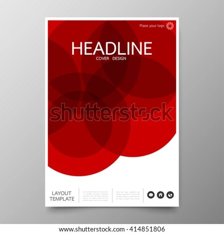 Business Annual Report Cover Template Design Geometric Stock Vector
