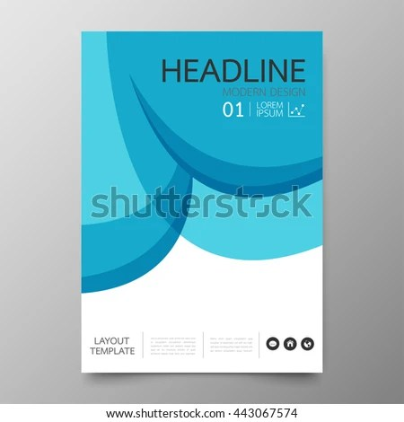 Business Annual Report Cover Template Modern Stock Vector (Royalty