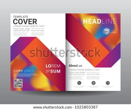 Business Bifold Brochure Templates Fold Leaflet Stock Vector