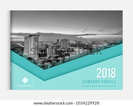 Business Brochure Cover Design Template Corporate Stock Vector